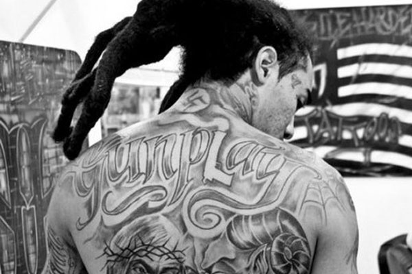 Gunplay swastika tattoo