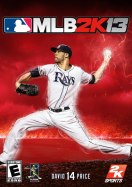 Cover of MLB 2K13 with cover athlete David Price, of the Tampa Bay Rays.