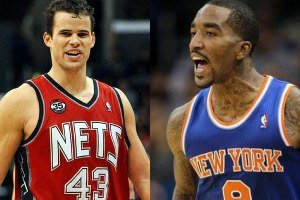 Kris Humphries and J.R. Smith