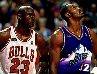 Michael Jordan and Karl Malone