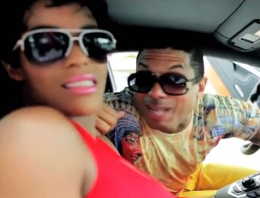 Benzino and Joseline in 'Smashed Da Homie' video.