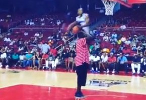 Young Hollywood (West Coast Dreamers) Dunks Over Shawn Kemp (Video)