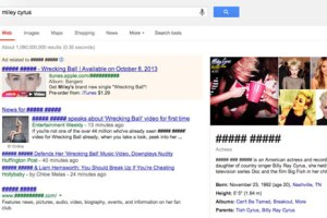 No Miley Google Chrome plugin