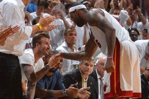 David Beckham and LeBron James