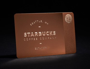 Starbucks x Gilt Limited Edition Rose Gold Card
