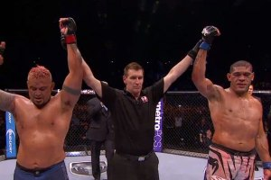 Mark Hunt and Antonio Silva at UFC Fight Night 33 - majority draw