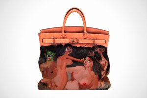 Kanye West buy hand-painted Birkin bag by George Condo for Kim Kardashian