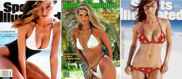 Top Sports Ilustrated Swimsuit covers of all-time.