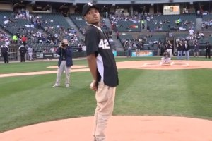 Chance The Rapper Throws First Pitch At White Sox Game