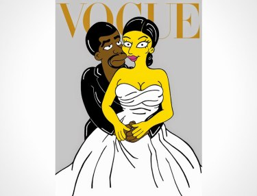 Kanye West and Kim Kardashian x Simpsons by aleXsandro Palombo
