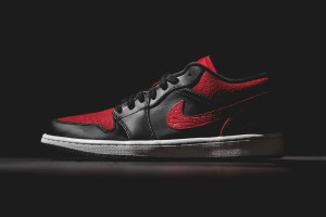 Air Jordan 1 Low Bred Elephant Print