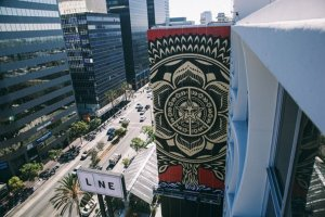 Shepard Fairey's Mural For The Line Hotel LA