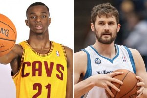 Andrew Wiggins and Kevin Love