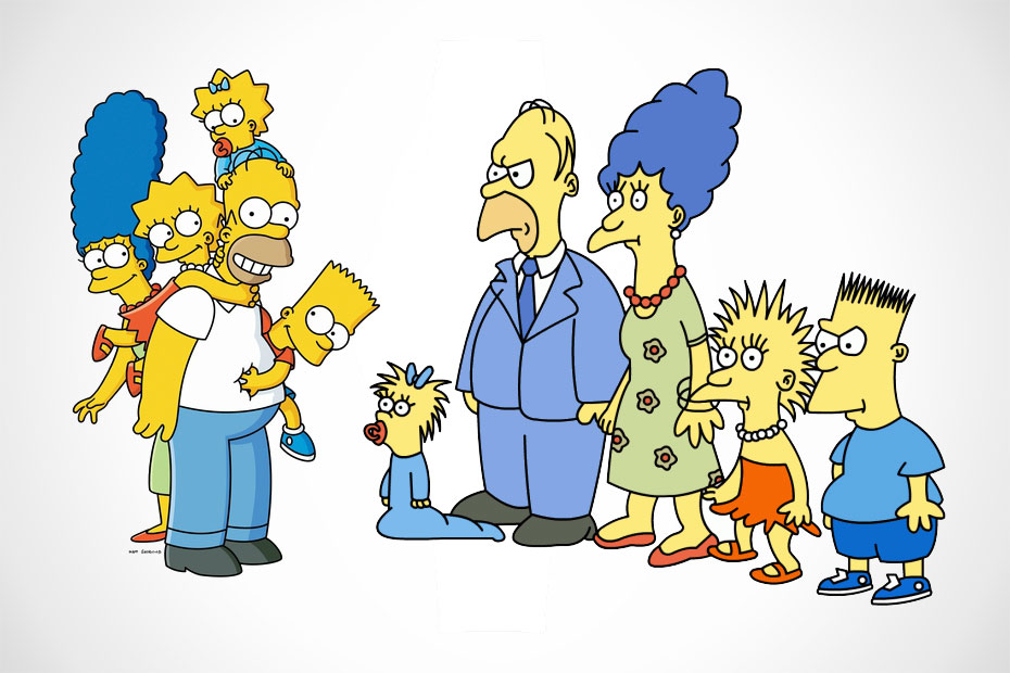 The Simpsons and earlier Simpsons
