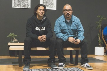 Pro skater Paul Rodriguez and photographer Willie T