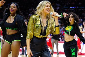 Fergie Surprises Clippers Fans With 'L.A. Love' Performance