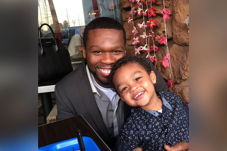 50 Cent with his son Sire