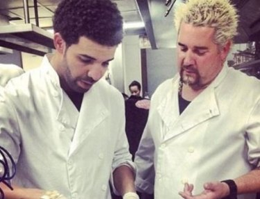 Drake and Guy Fieri