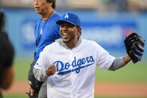 Kendrick Lamar Throws At First Pitch At Dodgers Game