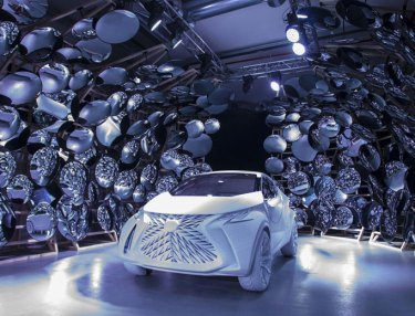 Lexus LF-SA Concept 'Matte White' At Milan Design Week