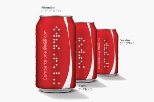 Coca-Cola Printing Cans & Bottles In Braille