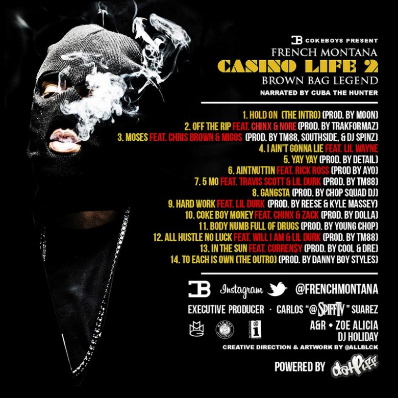 French Montana - Casino Life 2: Brown Bag Legend (Mixtape) - Back