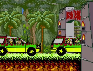 Jurassic Park Recreated In 8-Bit