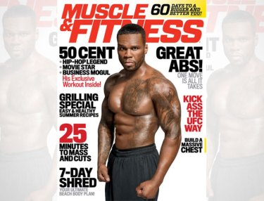 50 Cent on July/August 2015 cover of Muscle & Fitness