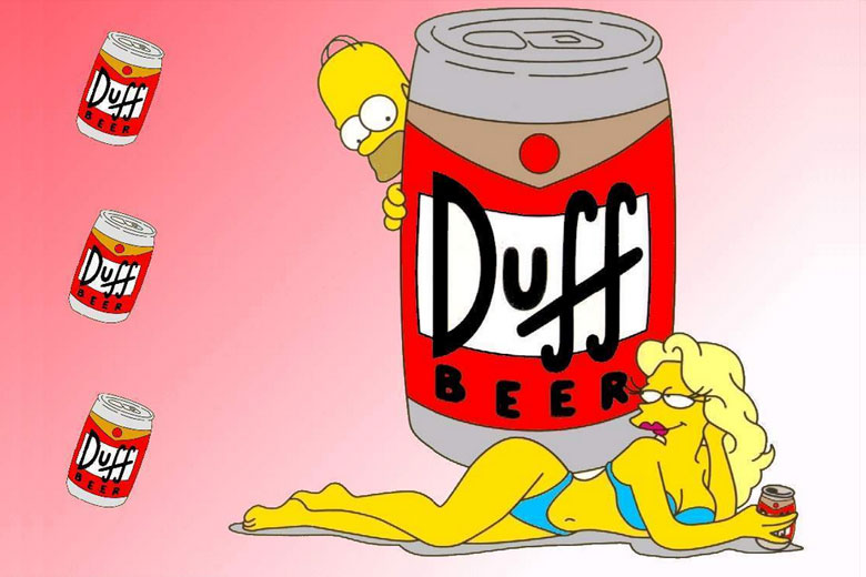 Duff Beer from The Simpsons