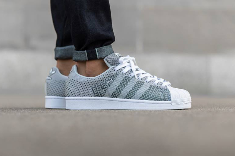 sneakers for cheap 4a1a9 6dd2e Adidas Originals Superstar Weave - Clear Grey