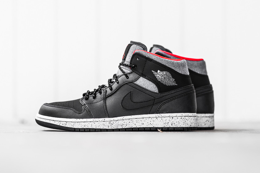 d8eb01e54ef Air Jordan 1 Mid Black/Dark Grey/Infrared 23