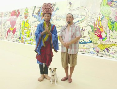 Pharrell Visits Takashi Murakami's 'The 500 Arhats' Exhibit