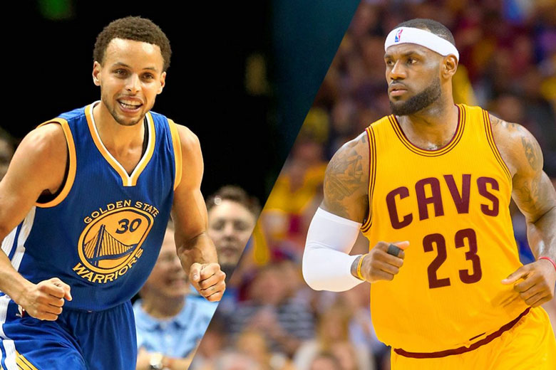 Curry and LeBron James