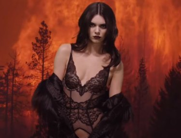 Kendall Jenner Heats Up Christmas Eve For LOVE Magazine