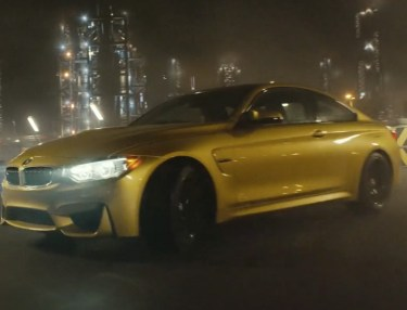 BMW M4 Test Drives & Drifts Inside a Factory
