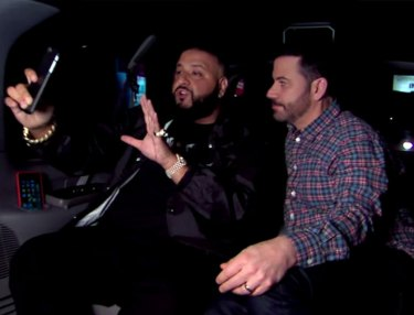 DJ Khaled and Jimmy Kimmel