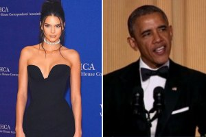 Kendall Jenner and President Obama