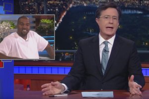 Stephen Colbert Parodies Kanye West's Rant On Ellen