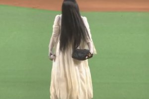 Characters Appear at Japanese Baseball Game