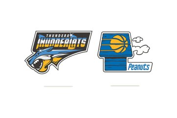 NBA/Cartoon Logo Mash-Ups by Vanila Lab