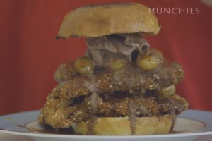 Action Bronson Makes Deep Fried Chicken Sandwich