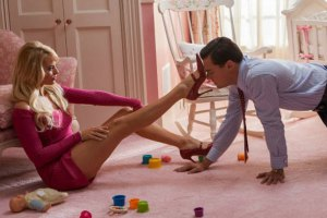 Margot Robbie and Leonardo DiCaprio in Wolf of Wall Street