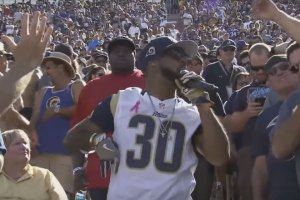 Problem performs at Los Angeles Rams game