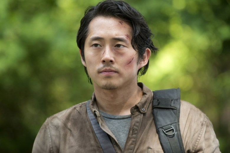 Steven Yeun as Glenn from the Walking Dead.