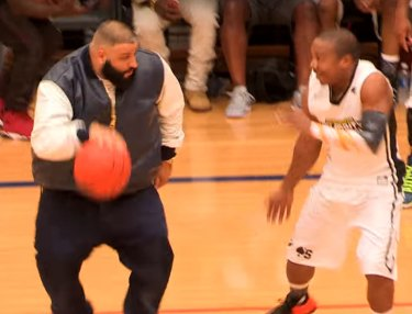 DJ Khaled Tries to Showcase Basketball Skills at Celebrity Game