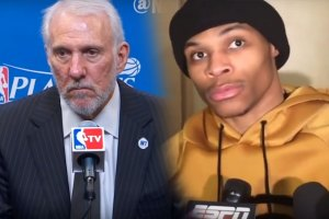 Russell Westbrook & Gregg Popovich