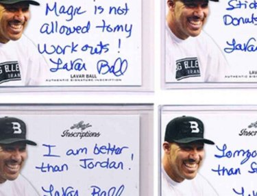LaVar Ball autographed trading cards