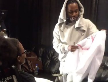 Kendrick Lamar Visits Disabled Fan