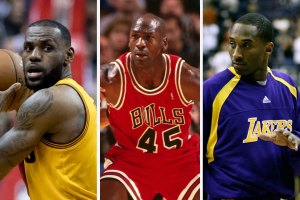 LeBron James, Michael Jordan and Kobe Bryant