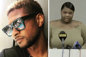 Usher and Quantasia Sharpton